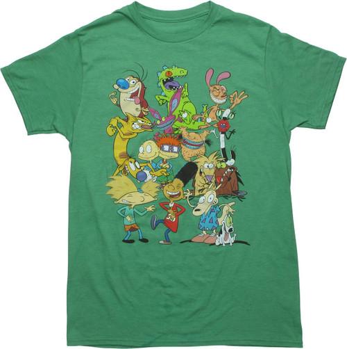 Nickelodeon 90s Toons Green T-Shirt
