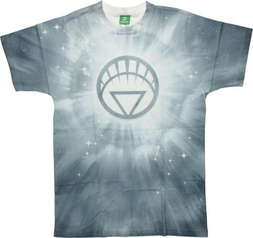 Green Lantern White Logo Burst Tie-Dyed T-Shirt