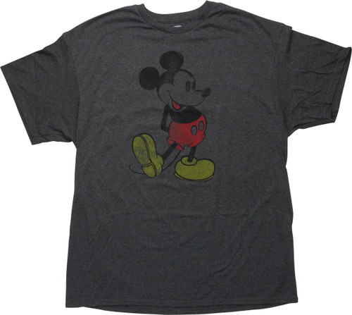 Mickey Mouse Arms Behind Back Distressed T-Shirt