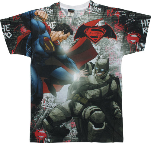 Batman v Superman Showdown Sublimated T-Shirt