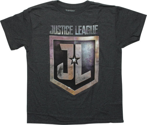 Justice League Movie Name and Logo Youth T-Shirt