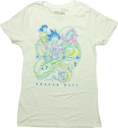 Dragon Ball Shenron Goku Pastel Juniors T-Shirt