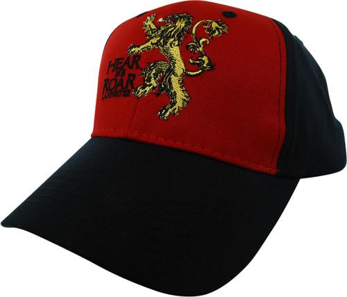 Game of Thrones Lannister Hear Me Roar Velcro Hat