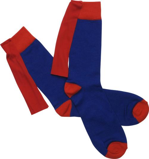 Secret Identity Clark K Caped Crew Socks