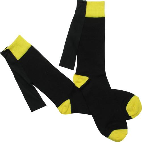 Secret Identity Bruce W Caped Crew Socks