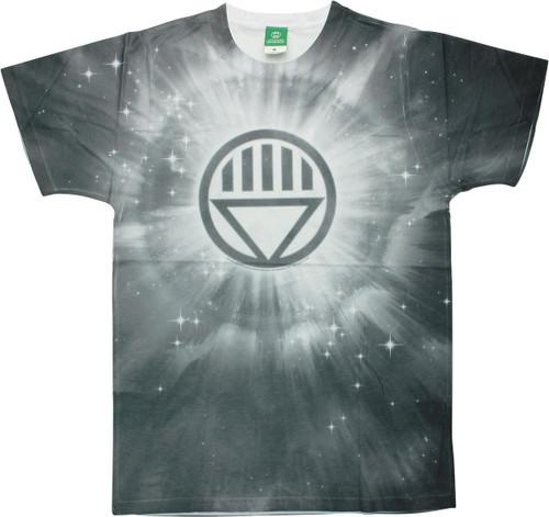 Green Lantern Black Logo Burst Tie-Dyed T-Shirt