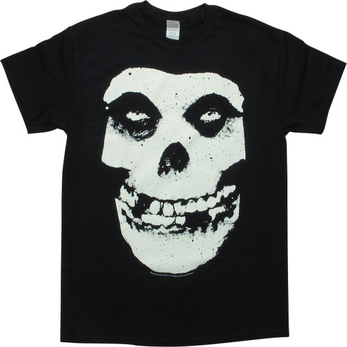 Misfits Fiend Logo Glow in the Dark Black T-Shirt
