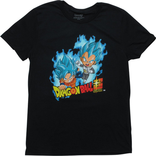 Dragon Ball Super Chibi SSGSS Goku Vegeta T-Shirt