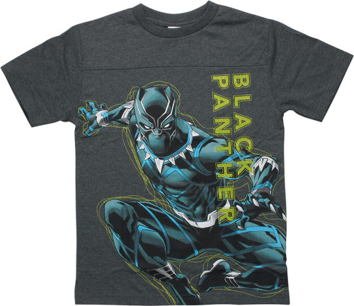Black Panther Avengers Glow Youth Shirt