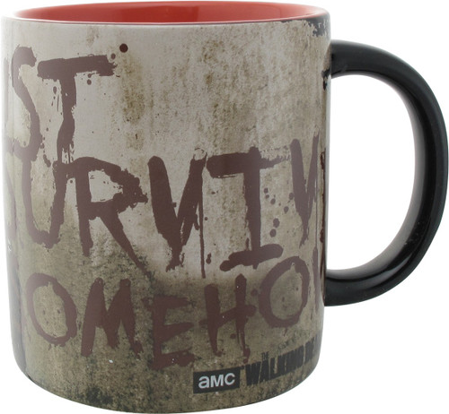 Walking Dead Survive Somehow Molded Jumbo Mug