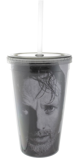 Walking Dead Rick Grimes Face Travel Cup