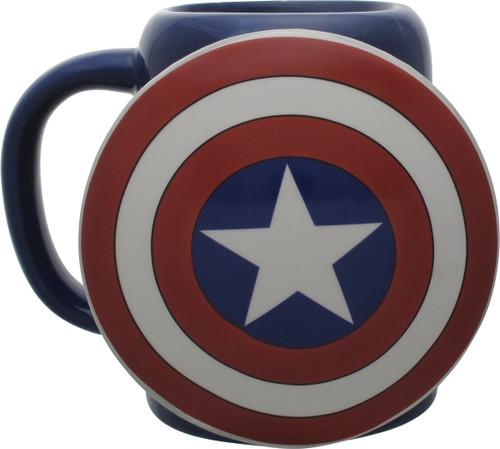 Captain America Shield Sculpted Mug