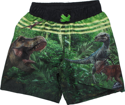 Jurassic World T-Rex and Raptors Juvenile Swimsuit