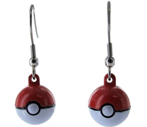 Pokemon 3D Pokeball Dangle Earrings