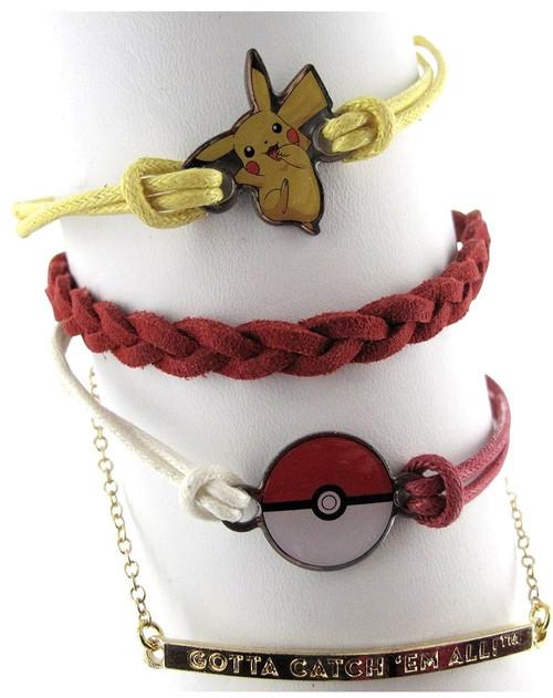 Pokemon Gotta Catch Em All 4 Piece Bracelet Set