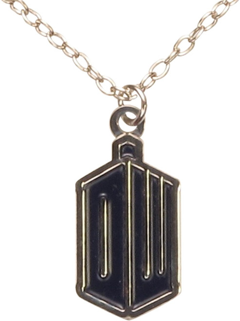 Doctor Who DW TARDIS Logo Necklace