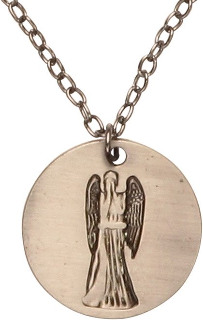 Doctor Who Weeping Angel Coin Necklace