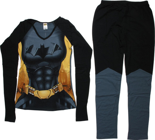 Batgirl Costume Long Sleeve Junior Pajama Set
