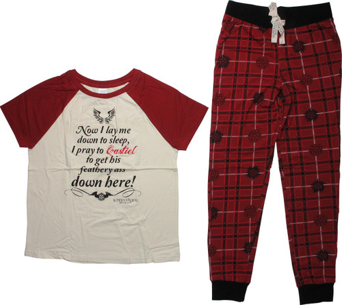 Supernatural Now I Lay Me Down Junior Pajama Set