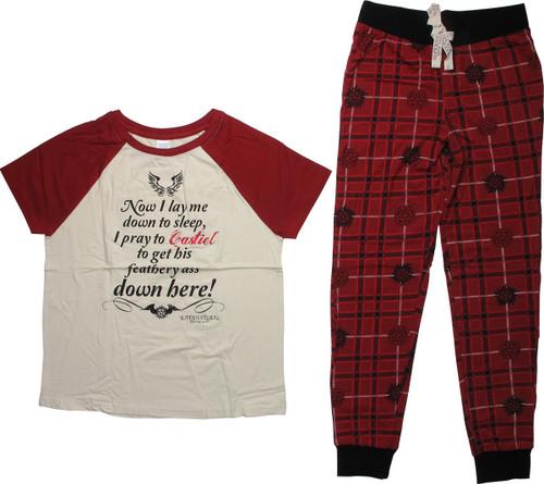 Supernatural Now I Lay Me Down Junior Pajama Set