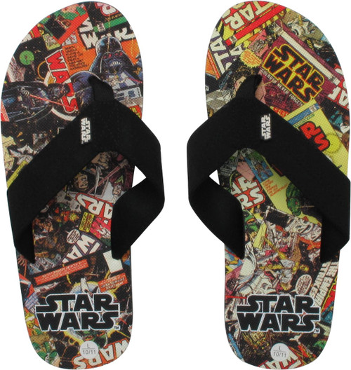 Star Wars Comic Book Covers Sandals