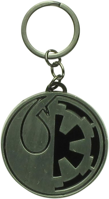 Star Wars Imperial Cog Rebel Logo Metal Keychain
