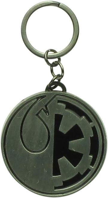 Star Wars Imperial Cog Rebel Logo Metal Keychain