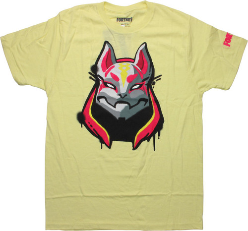 Fortnite Drift Mask Yellow T-Shirt