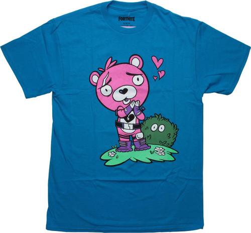 Fortnite Cuddle Team Leader Turquoise T-Shirt
