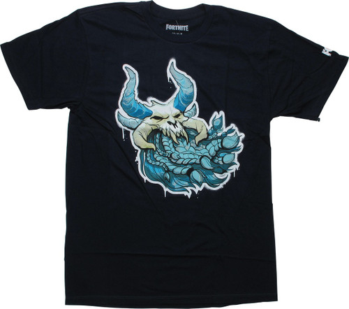 Fortnite Ragnarok Skull Navy Blue T-Shirt