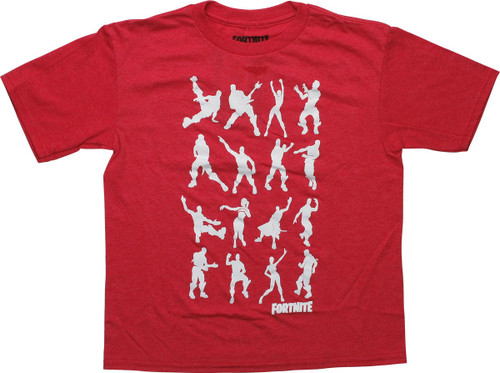 Fortnite Dance Heathered Red Youth T-Shirt
