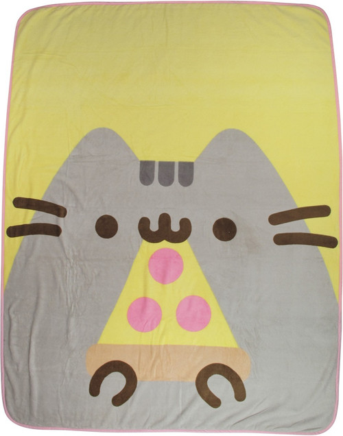 Pusheen the Cat Pizza Plush Throw Blanket