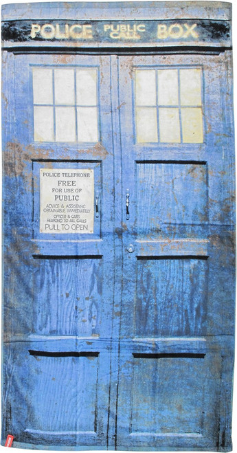 Doctor Who Distressed TARDIS Towel