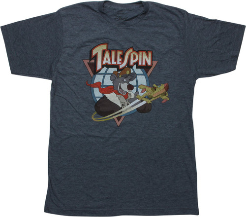 TaleSpin Logo Heathered Navy T-Shirt