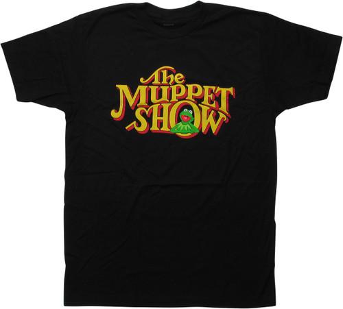 Muppets Muppet Show Logo Kermit Black T-Shirt