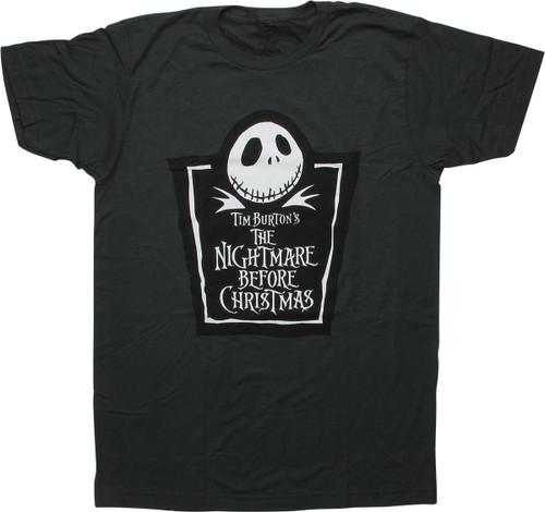 Nightmare Before Christmas Tombstone Logo T-Shirt