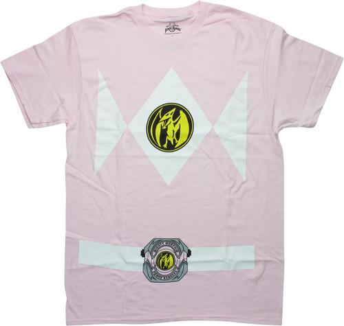 Power Rangers Pink Ranger Belt Costume T-Shirt