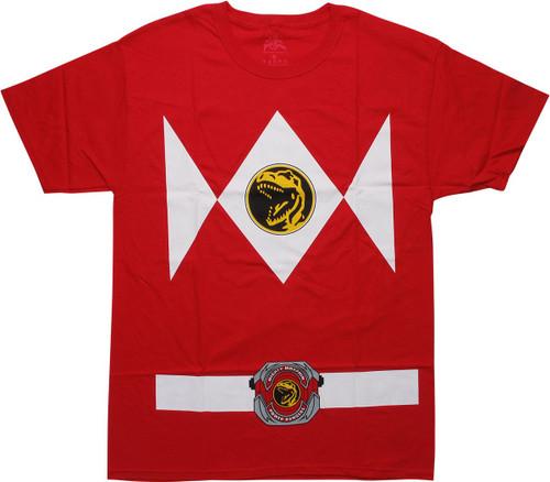 Power Rangers Red Ranger Belt Costume T-Shirt