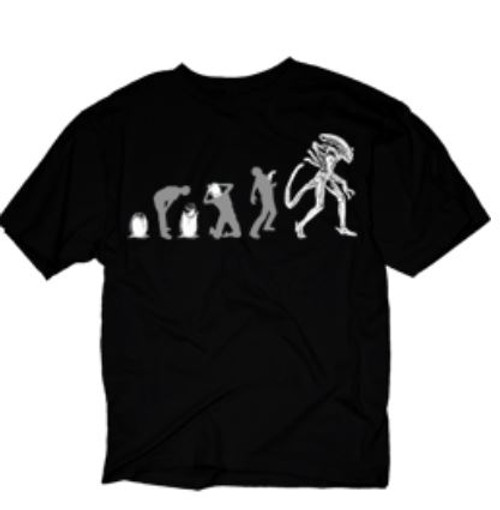 Alien Evolution of Alien Black T-Shirt