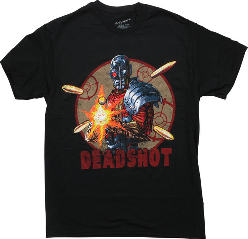 Justice League Deadshot Black T-Shirt