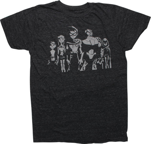 Teen Titans Group Heathered Charcoal T-Shirt