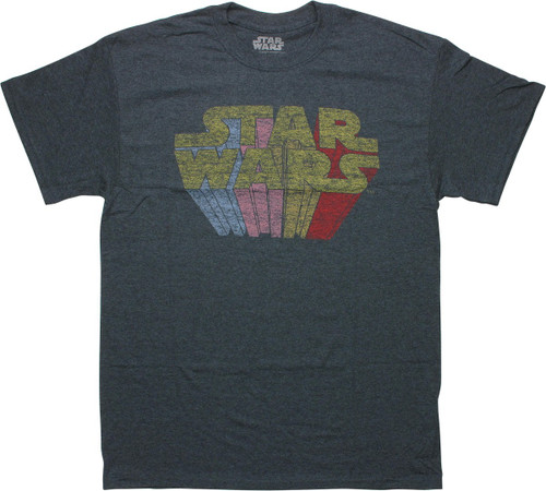 Star Wars Rainbow Name Distressed Vintage T-Shirt