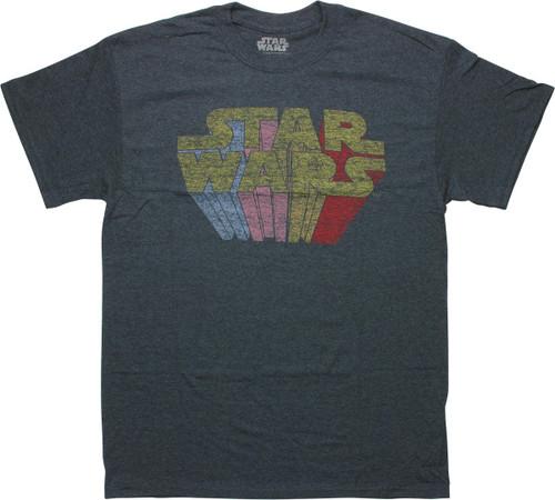 Star Wars Rainbow Name Distressed Vintage T-Shirt