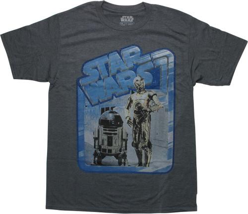 Star Wars Name Droids Heathered Gray T-Shirt