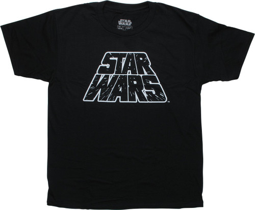 Star Wars Name Hyperspace Black T-Shirt