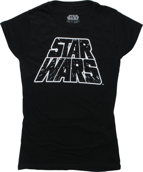 Star Wars Name Hyperspace Black Juniors T-Shirt