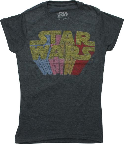 Star Wars Rainbow Name Vintage Juniors T-Shirt