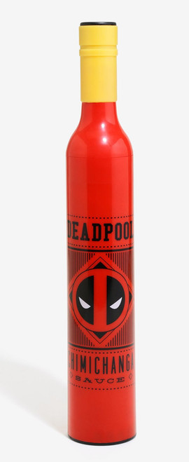 Deadpool Chimichanga Sauce Bottle Umbrella