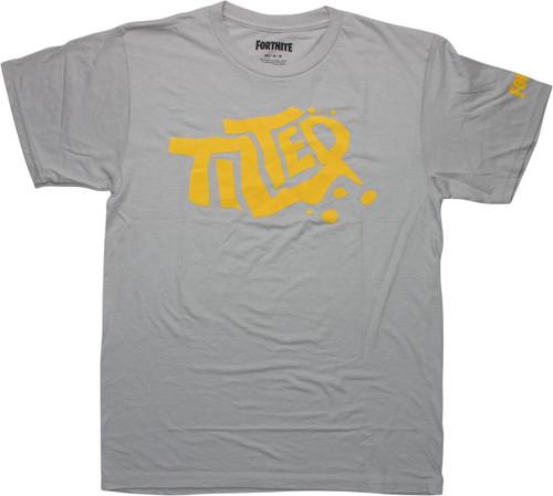 Fortnite Yellow Tilted Logo Gray T-Shirt