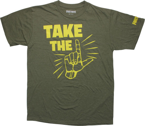 Fortnite Take the L Olive Green T-Shirt